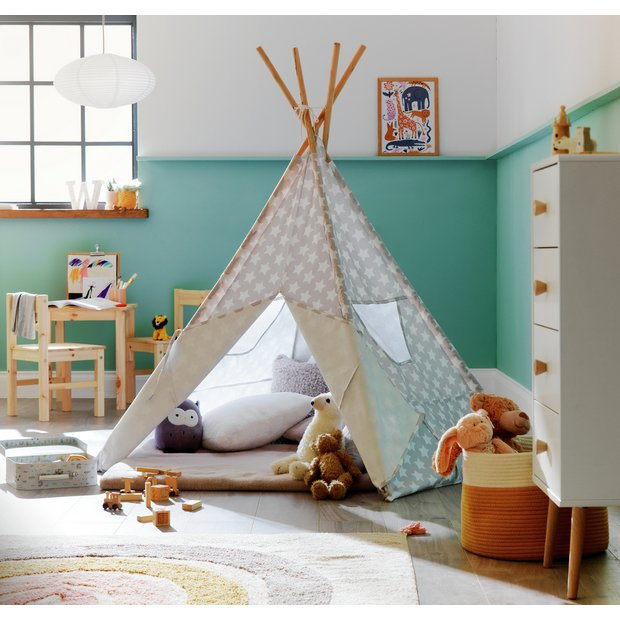 best authentic fce96 a9834 Buy Kaikoo Kids Play Silver Teepee Tent | Play tents | Argos