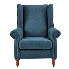 Argos Home Argyll Fabric High Back Chair - Blue