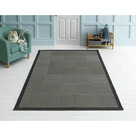 Argos Home Cottage Blocks Rug - 160x120cm - Grey