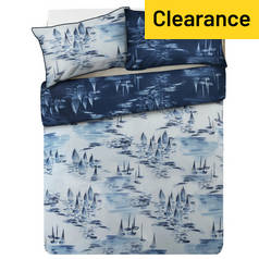 Argos Home Watercolour Ships Bedding Set - Double