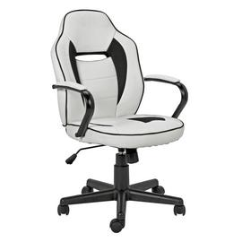 Argos Home Mid Back Faux Leather Office Gaming Chair