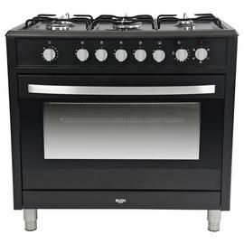Bush BRCNB90SEBK 90cm Dual Fuel Range Cooker - Black