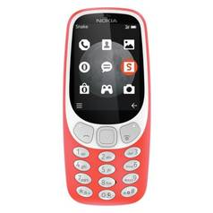 SIM Free Nokia 3310 Mobile Phone - Red