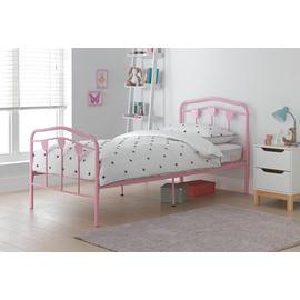 Argos Home Hearts Pink Single Bed Frame