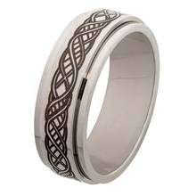 Revere Men's Stainless Steel Celtic Spinning Ring