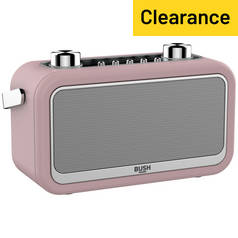 Bush Leather DAB Radio - Pink