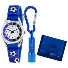 Tikkers Blue Football Watch, Wallet and Torch Set
