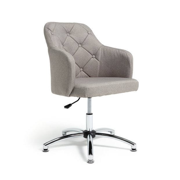 Tremendous Buy Argos Home Button Back Fabric Office Chair Grey Office Chairs Argos Home Interior And Landscaping Palasignezvosmurscom