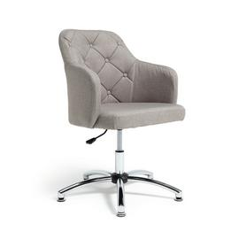 Argos Home Button Back Fabric Office Chair - Grey