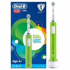 Oral-B Kids Junior Green Electric Toothbrush for Age 6+
