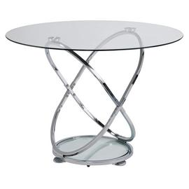 Argos Home Atom Round Glass 4 Seater Dining Table