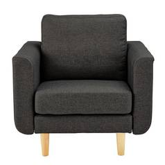 Hygena Remi Fabric Chair in a Box - Charcoal