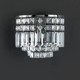 Argos Home Olivia Semi Flush Wall Light Chrome