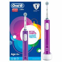 Oral-B Kids Junior Purple Electric Toothbrush for Age 6+