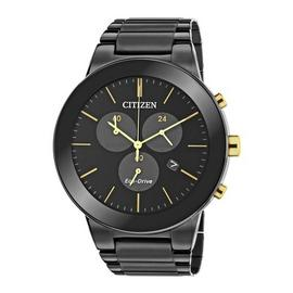 Citizen Eco-Drive Axiom Men's Black Steel Chronograph Watch