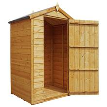 Mercia Windowless Shiplap Apex Shed - 3 x 4ft Best Price, Cheapest Prices