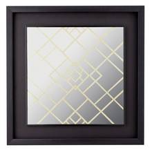 Collection Square Glitter Mirror - Grey & Gold