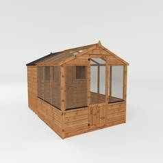 Mercia Wooden 10 x 6ft Greenhouse Combi Shed Best Price, Cheapest Prices