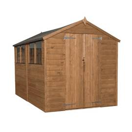 Mercia Workman Wooden 10 x 6ft Shiplap Apex Shed