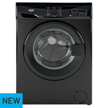 Bush WMDF1014B 10KG Washing Machine - Black Best Price, Cheapest Prices