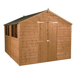 Mercia Workman Wooden 10 x 8ft Shiplap Apex Shed