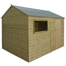 Mercia Pressure Treated Reverse Apex Shed - 12 x 8ft