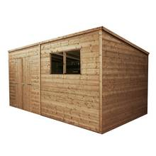 Mercia Pressure Treated Pent Shed - 14 x 8ft Best Price, Cheapest Prices