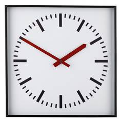 Argos Home Metal Wall Clock - Black and White