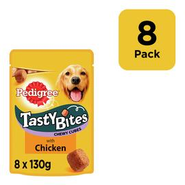 Pedigree Tasty Bites Dog Treats Chewy Cubes Chicken 8 Packs