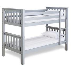 Argos Home Heavy Duty Grey Bunk Bed & 2 Kids Mattresses