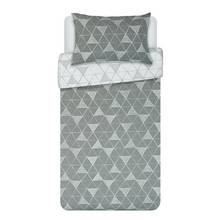 HOME Tribe Grey Geo Bedding Set - Single