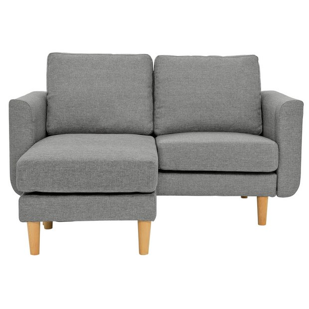 Buy Argos Home Remi 2 Seater Fabric Chaise in a Box - Light Grey ...