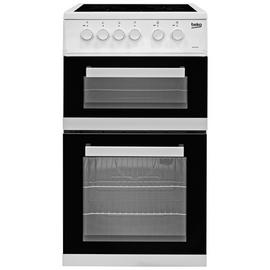 Beko KDC5422AW 50cm Twin Cavity Electric Cooker - White Best Price, Cheapest Prices