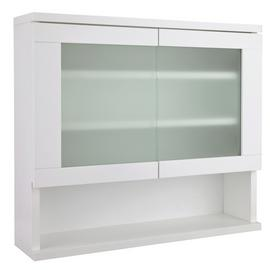 Argos Home Ice 2 Door Wall Cabinet - White