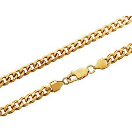 Revere Men's Gold Colour Stainless Steel Curb Chain