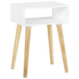 Habitat Cato Solid Wood Side Table - White