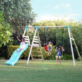 TP ALASKA DOUBLE SWING SET AND SLIDE