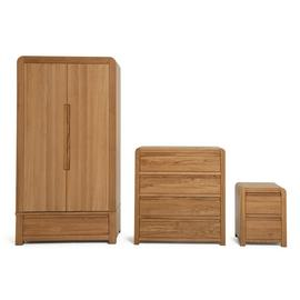 Argos Home Novara 3 Piece Wardorbe Set - Oak & Oak Veneer
