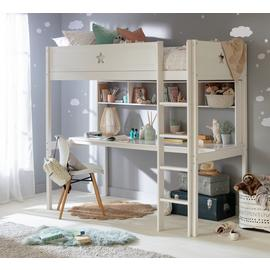 Argos Home Stars White High Sleeper Bed, Desk & Shelves
