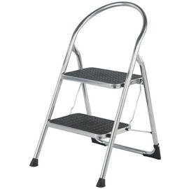 Abru 2 Step Chrome Effect Stepstool 2.22m *SWH