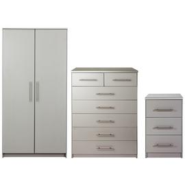 Argos Home Normandy 3 Piece 2 Door Wardrobe Set