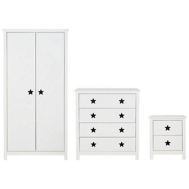 Buy Argos Home Stars 3 Piece 2 Door Wardrobe Set White Kids Bedroom Furniture Sets Argos