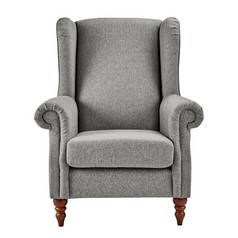 Argos Home Argyll Fabric High Back Chair - Grey