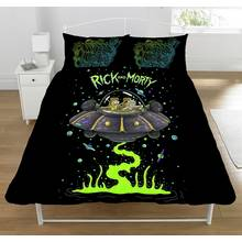 Rick and Morty UFO Spaceship Duvet Set - Double
