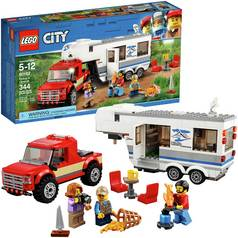 LEGO City Great Vehicles Pickup & Caravan Truck Toy - 60182