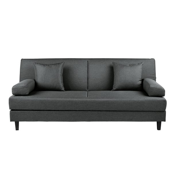 Argos Home Chase Fabric Clic Clac Sofa Bed - Charcoal