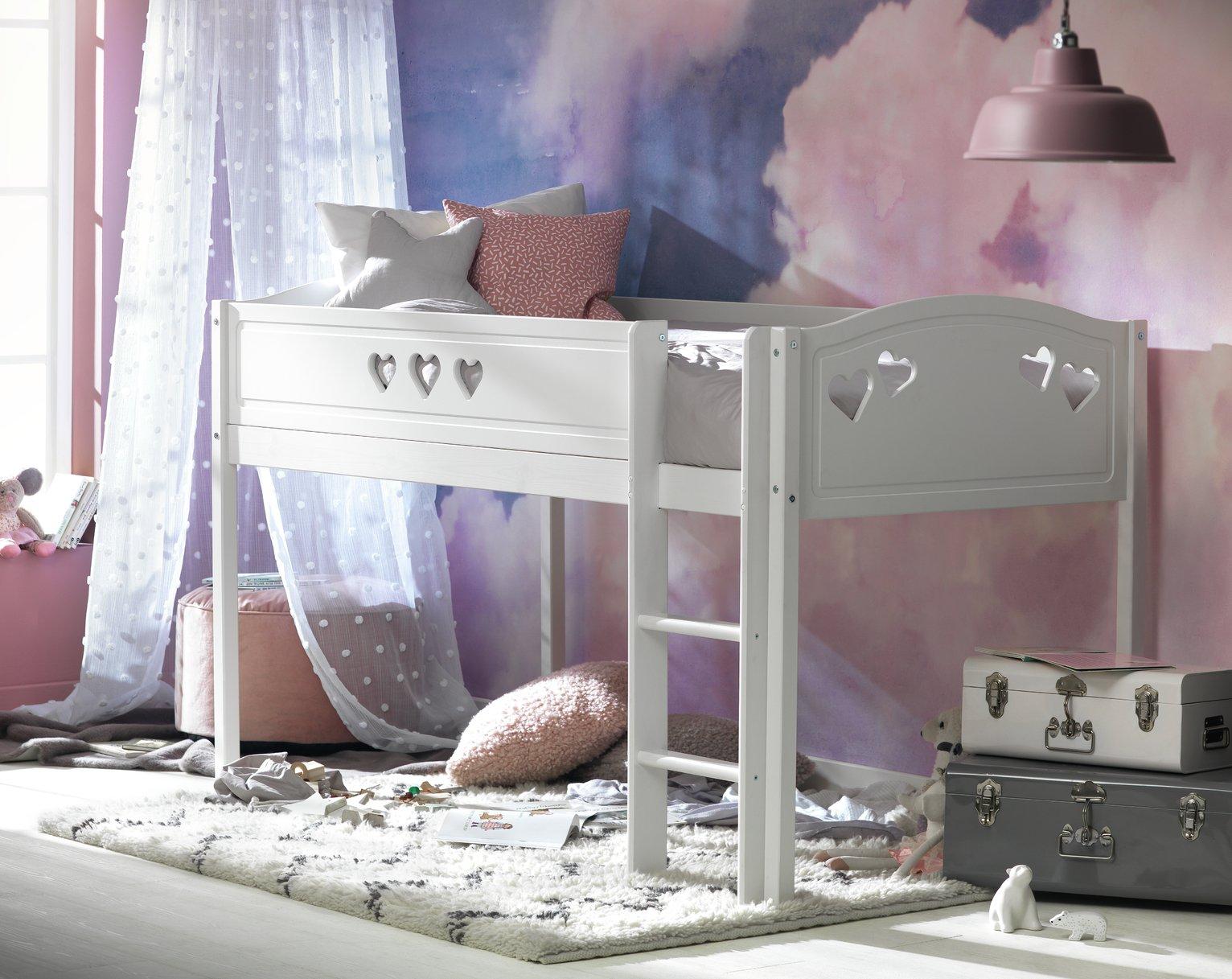 Kid S Beds Children S Bunk Cabin Mid Sleeper Beds Argos