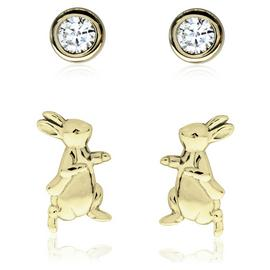 Beatrix Potter 9ct Gold Plated Stud Earring Set of 2