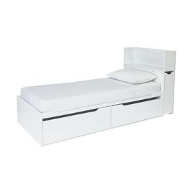 Argos Home Lloyd White Cabin Bed Frame & Storage Headboard