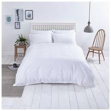Sainsbury's Home Washed Cotton White Bedding Set - Kingsize